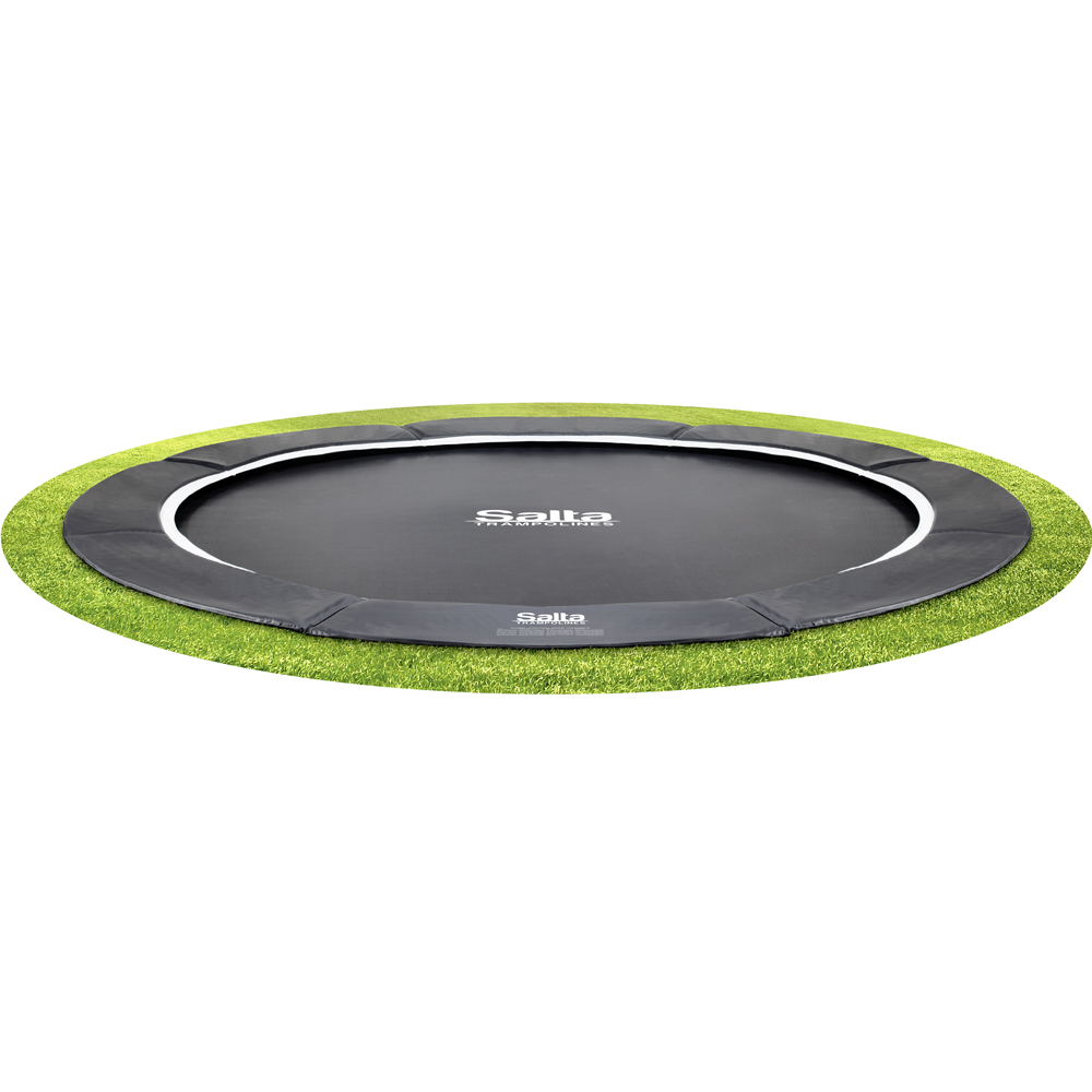 Salta Royal Baseground ground level trampoline 251 cm Zwart kopen